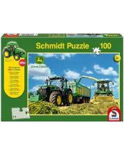 Puzzle Schmidt de 100 piese - John Deere 7310R