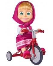 Papusa Simba Toys Masha si ursul - Masha cu tricicleta