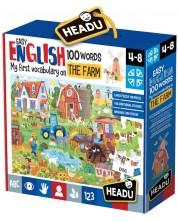 Set educativ Headu - Ferma, primele 100 de cuvinte in limba engleza -1