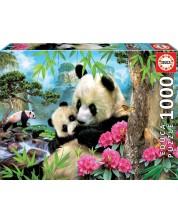 Puzzle Educa din 1000 de piese - Ursi panda