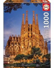 Puzzle Educa cu 1000 de piese - Sagrada Familia, Barselona