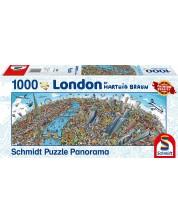 Puzzle panoramic Schmidt de 1000 piese - Hartwig Braun London