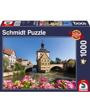 Puzzle Schmidt de 1000 piese - Bamberg, Regnitz and the Old Town Hall