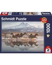 Puzzle Schmidt de 1000 piese - Horses in Cappadocia
