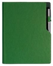 Agenda din piele cu spirala Alicante А5 - Verde inchis /Pixul nu este inclus/ -1