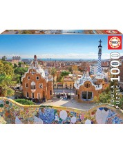 Puzzle Educa 1000 de piese - Vedere catre Barcelona, din Parcul Guell