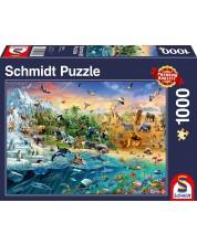 Puzzle Schmidt de 1000 piese - Regatul animalelor