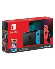 Nintendo Switch - Red & Blue + Just Dance 2020 Bundle