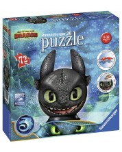 Puzzle 3D Ravensburger de 72 piese - Cum sa iti dresezi dragonul 3, Stirbul