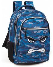 Ghiozdan scolar J. M. Inacio - Angry, albastru -1