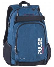 Ghiozdan scolar Pulse Sport - Scate, albastru