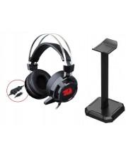 Casti gaming  Redragon - Siren 2 H301USB, negre/rosii