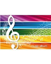 Caiet de muzica A5, 16 file Blasetti - Colorat -1