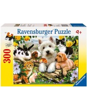 Puzzle Ravensburger de 300 piese - Animale fericite
