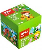 Puzzle pentru copii APLI Kids, de 24 piese, Ferma