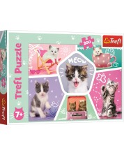 Puzze Trefl de 200 piese - Glumele pisicilor
