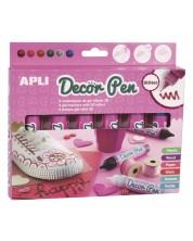 Set vopsea pentru decorare 3D APLI - 6 bucati х 25 ml, culori stralucitoare