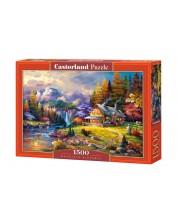 Puzzle Castorland de 1500 piese - Adapost in munte
