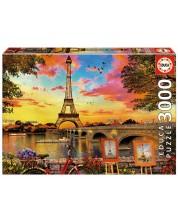 Puzzle Educa cu 3000 de piese - Apus in Paris