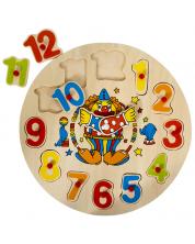 Puzzle-ceas din lemn  Pino - Clovn -1