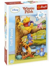 Puzzle Trefl de 60 piese - Winnie de Plus aduna miere