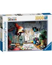 Puzzle Ravensburger de 1000 piese - Biroul pictorului