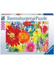 Puzzle Ravensburger de 1000 piese - Desen cu flori
