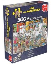 Puzzle Jumbo de 500 piese - Fabrica de bomboane, Jan van Haasteren