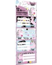 Etichete scolare Lizzy Card - Uni Cool Magic, Lollipop , 12 bucati -1