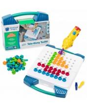 Set pentru copii Learning Resources - Mozaic, cutie cu surubelnita electrica -1