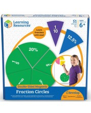 Culegere de matematica pentru copii Learning Resources - Fractii si procente -1