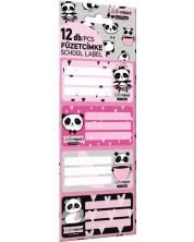 Etichete scolare Lizzy Card - Hello Panda, Lollipop, 12 bucati -1