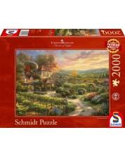 Puzzle Schmidt de 2000 piese - Thomas Kinkade Wine Country Living