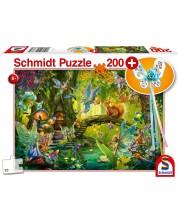 Puzzle Schmidt de 200 piese - Zane in padure, cu bagheta magica