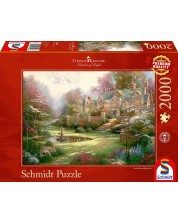 Puzzle Schmidt de 2000 piese - Thomas Kinkade Gardens Beyond Spring Gate