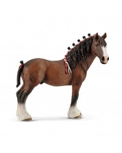 Figurina Schleich Farm World Horses - Armasar Clydesdale cu coama impletita