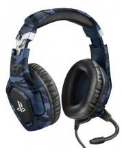 Casti gaming Trust GXT - 488 Forze-B PS4,  albastre
