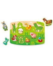Puzzle din lemn Hape - Animale domestice -1
