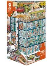 Puzzle Heye de 2000 piese - Urgenta, Jean-Jacques Loup