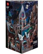 Puzzle Heye de 2000 piese - Castelul groazei, Jean-Jacques Loup