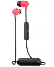 Casti cu microfon Skullcandy - Jib Wireless, negre/rosii