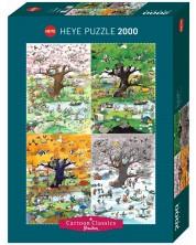 Puzzle Heye de 2000 piese - Cele patru anotimpuri, Roge Blachon