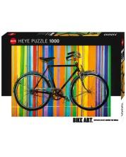 Puzzle Heye de 1000 piese - Din nou liberi, Bike Art
