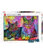 Puzzle Heye de 1000 piese - Doua pisici devotate, Dean Rousseau