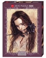 Puzzle Heye de 1000 piese - Trandafir negru, Victoria Frances