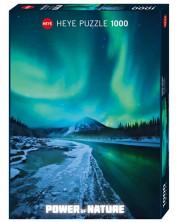 Puzzle Heye de 1000 piese - Stalucirea nordica, Forta Naturii