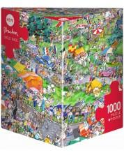 Puzzle Heye de 1000 piese - Cursa de biciclete, Roger Blachon