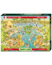 Puzzle Heye de 1000 piese - Viata pe Nile, Marino Degano