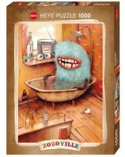 Puzzle Heye de 1000 piese - Si monstrii fac baie, Zozoville