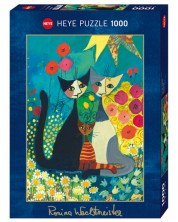 Puzzle Heye de 1000 piese - Pat de flori, Rosina Wachtmeister